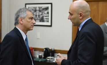 El cónsul italiano en La Plata de visita en Olavarría