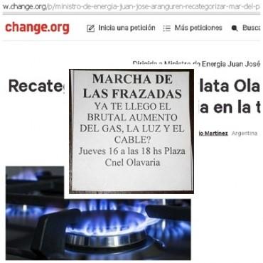 Frazadazo y petición contra el 'tarifazo'