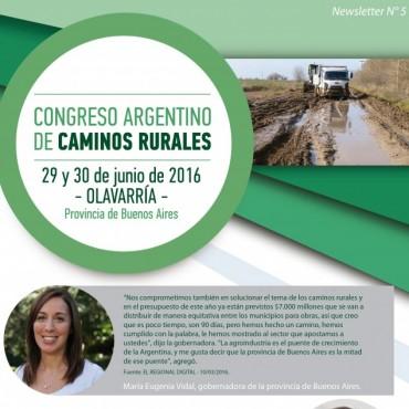 Se declaró de Interés Provincial el primer Congreso Nacional de Caminos Rurales