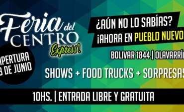 Este sábado inaugura Feria del Centro Express