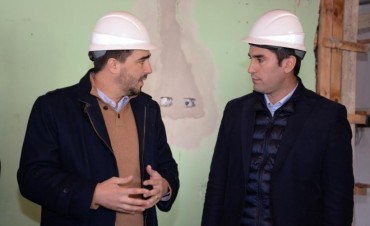El Presidente de la Cámara de Diputados Manuel Mosca recorrió obras en la ciudad
