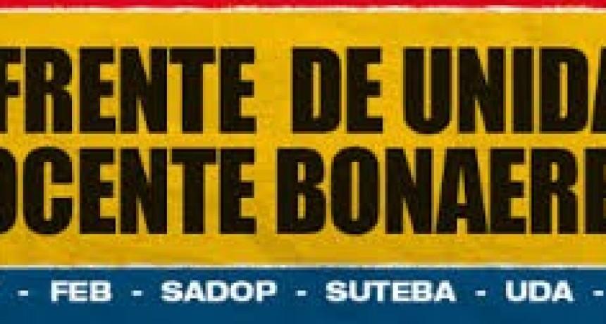 Paro docente: lo dispuso el Frente de Unidad bonaerense