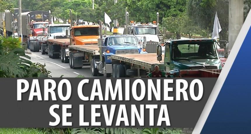 Se levantó el paro de camioneros