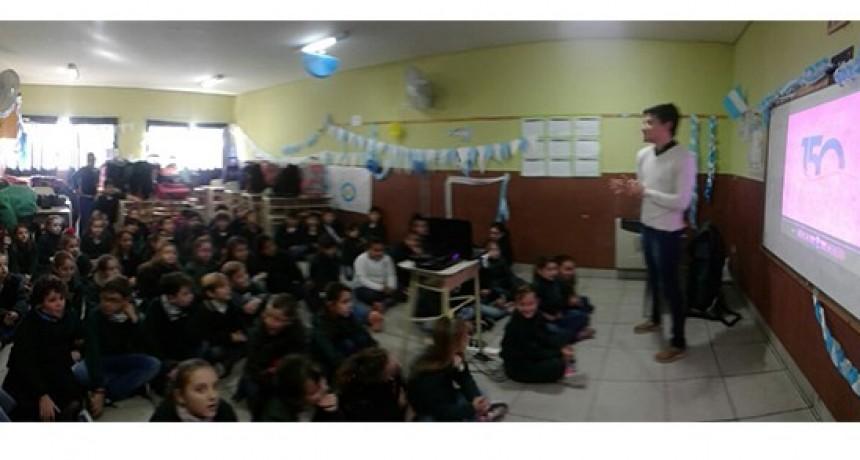 """""""Olavarría conoce a Olavarría"""": charla educativa en el colegio Fátima"""