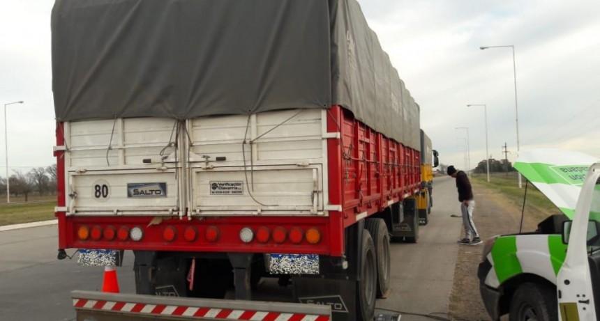 El Municipio detectó un camión con sobrecarga