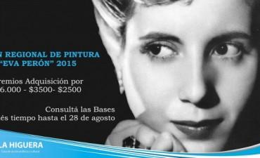 """Convocatoria al salón de pintura """"Eva Perón"""" 2015"""