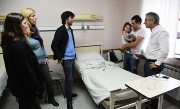 José Eseverri visitó el Servicio de Pediatría del Hospital Municipal