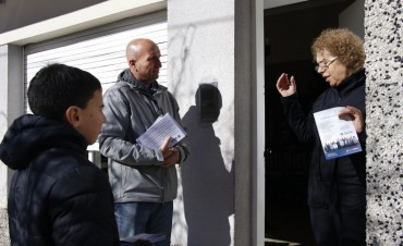 Eduardo Rodríguez junto a los candidatos recorren los barrios con la propuesta de la lista eseverrista
