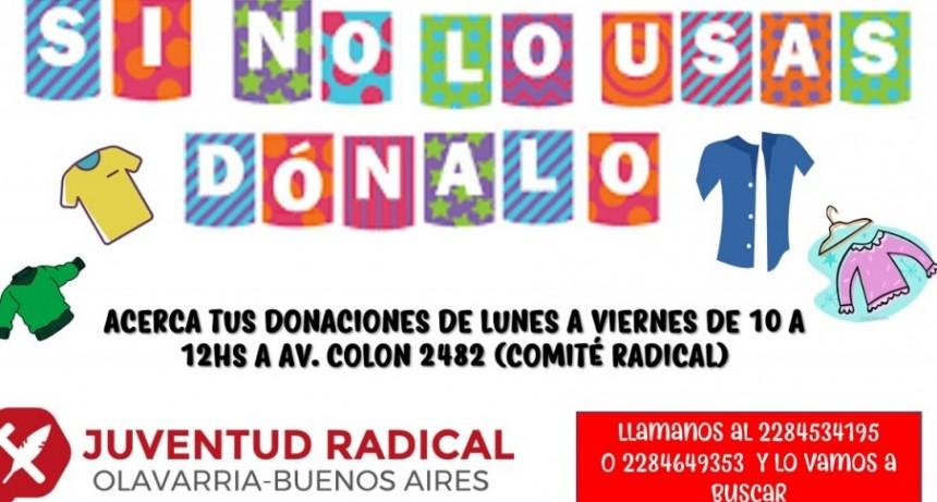 La juventud radical de OLavarría recibe donaciones