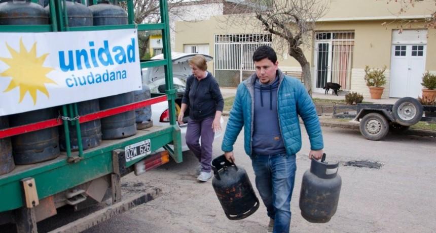 Unidad Ciudadana continúa con los operativos de venta de garrafas