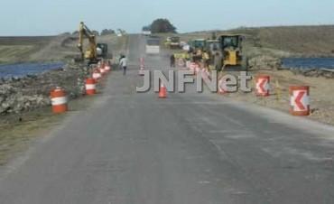 Ruta 86: siguen obras a la altura de  La Dulce