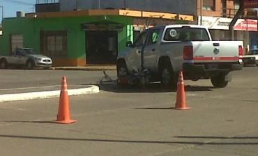 Choque camioneta-moto