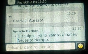 Ignacio/Guido envió un mensaje a la radio
