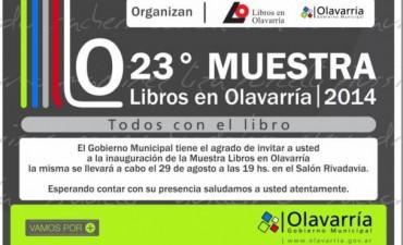 """Inaugura la Muestra """"Libros en Olavarría"""" en su 23º edición"""