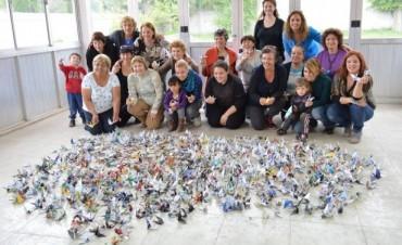 Las mil grullas por la paz de los Museos de los Pueblos llegan a Rosario