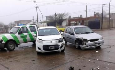 Al menos dos hechos de tránsito en una mañana gris y húmeda