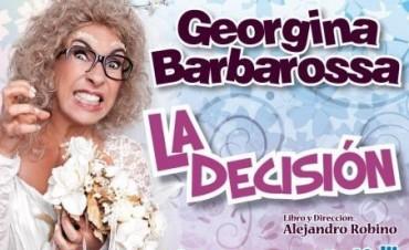 Georgina Barbarossa se presentará en el Teatro Municipal