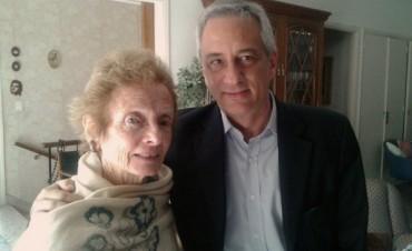 José Eseverri con la mamá de Gustavo Cerati
