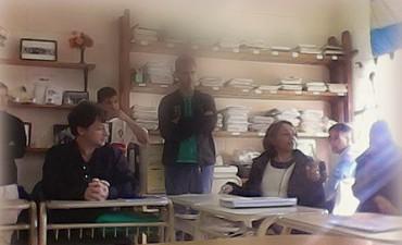 Expertos educativos de Chile y Brasil visitaron el Centro Universitario de la Unidad Nº 38