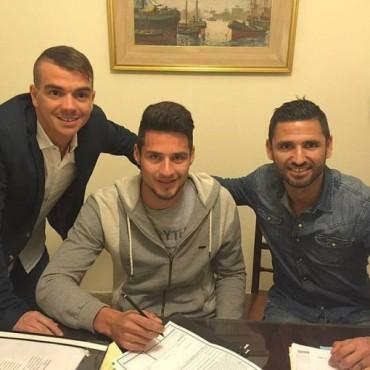 Braian Salvareschi firmó contrato con Sarmiento