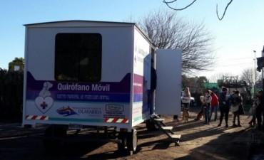 Quirófano veterinario móvil: 78 castraciones en Loma Negra