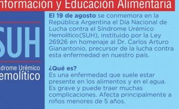 Día Nacional de lucha contra el Síndrome Urémico Hemolítico