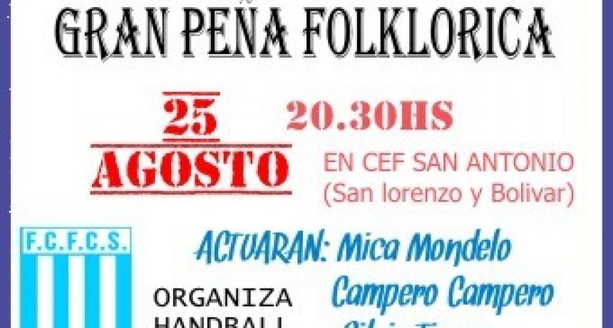 Peña folklórica en el CEF San Antonio