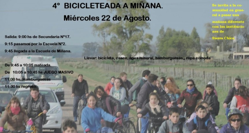 Cuarta bicicleteada a Miñana