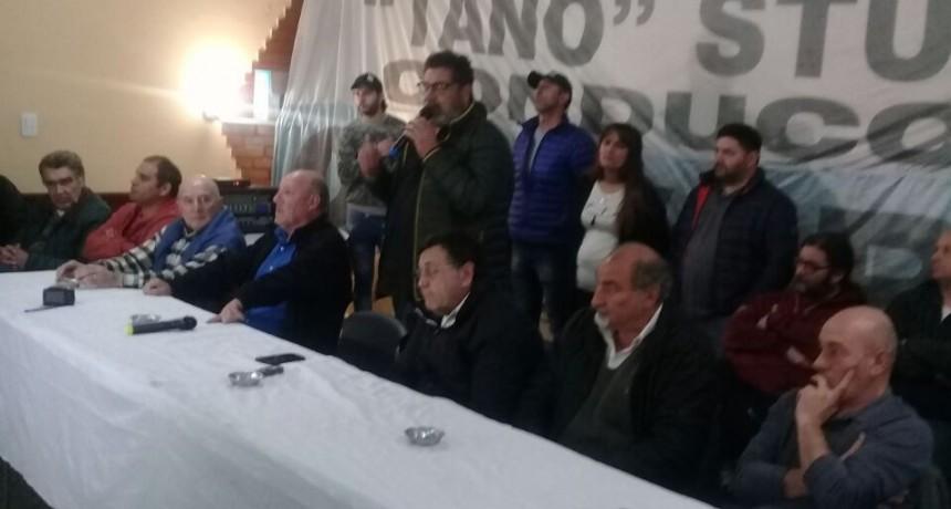 Conferencia de prensa en el Sindicato de Trabajadores Municipales