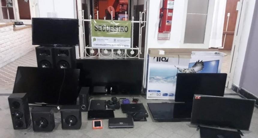 Recuperan electrodomésticos y herramientas robadas