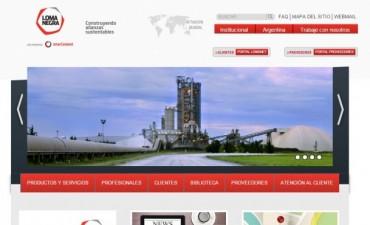 Loma Negra lanzó su nueva página web