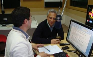 Eseverri habló de distintos temas en Radio Olavarría