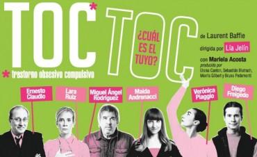 Este sábado en el Teatro Municipal la obra Toc Toc