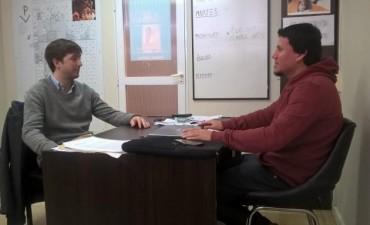 Aguilera e Hilario Galli se reunieron por el Boleto Estudiantil