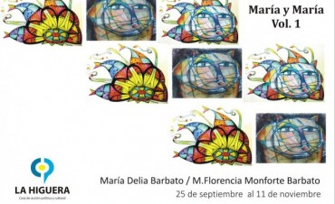 María Delia Barbato y Flor Monforte inauguran muestra en la higuera