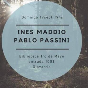 Ines Maddio y Pablo Passini en la Biblioteca 1º De Mayo