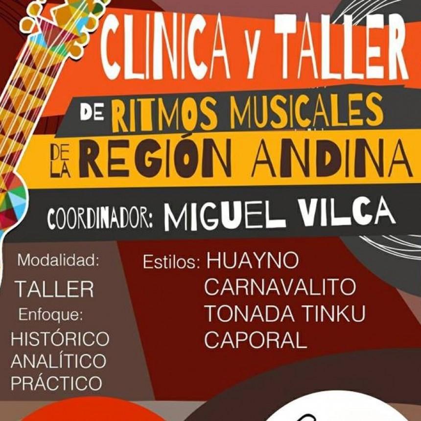 Clínica y taller de ritmos musicales de la región Andina