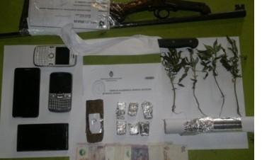 Un detenido por tenencia ilegal de estupefacientes y arma de fuego