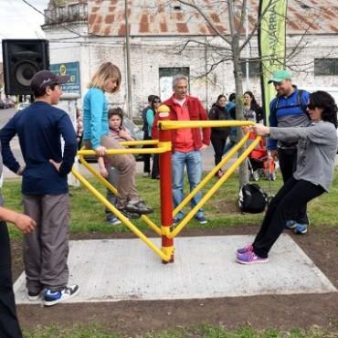 El Municipio habilitó una Plaza Saludable en el Parque del Bicentenario