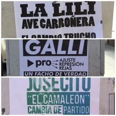 Afiches anónimos le 'pegan' a los candidatos