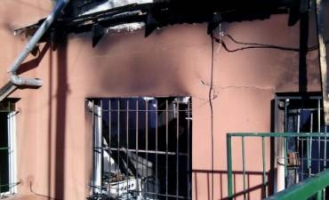 Dos personas con quemaduras tras un incendio
