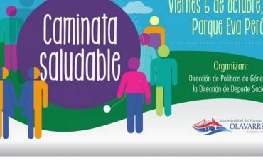 Este viernes inician las caminatas saludables en el Parque Eva Perón