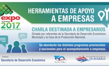 "Expo Olavarría: ""Herramientas de apoyo a empresas"""