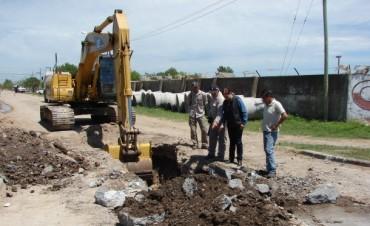 El Gobierno Municipal comenzó obras hidráulicas en el Barrio Nicolás Avellaneda