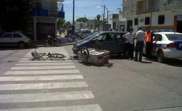 Choque bicicleta-auto