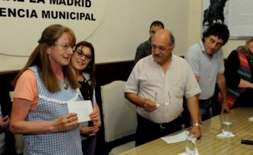 Entrega de subsidios a Instituciones Educativas en La Madrid