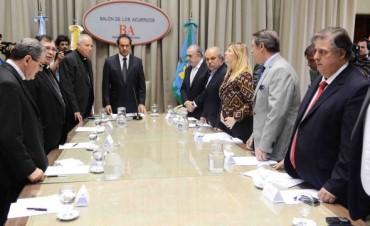 Reunión con los obispos en Gobernación por el tema adicciones
