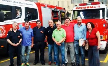 El destacamento de bomberos firmo un convenio por 300 mil pesos