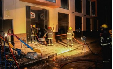 Incendio en Casa del Crédito