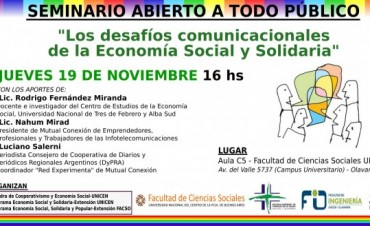 Segunda jornada del Seminario de Economía Social y Solidaria